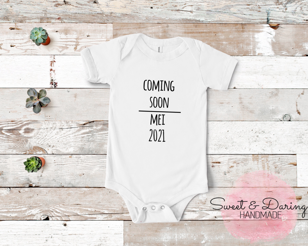 coming soon baby romper