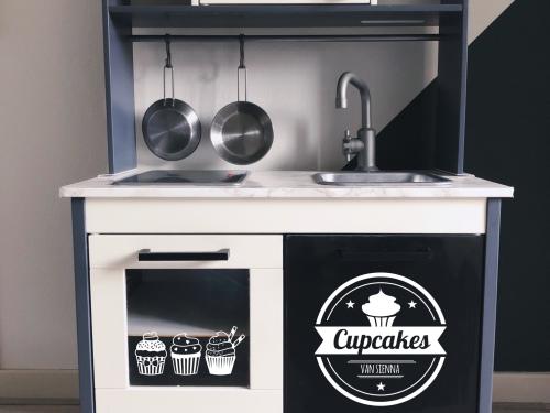 Ikea duktig keuken cupcake sticker