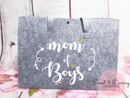 vilten shopper tas mom of boys wit