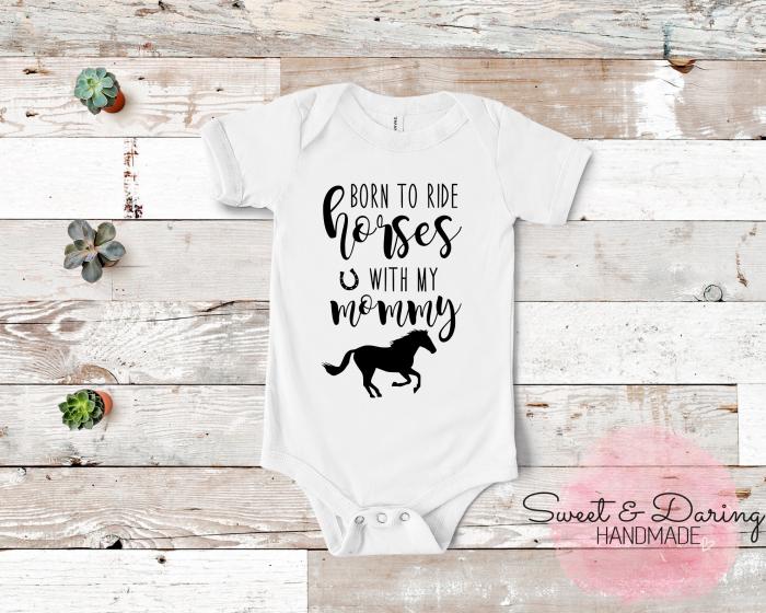 baby romper paard mommy