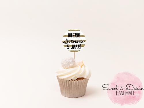 Cupcake topper verjaardag