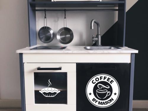keuken coffee shop sticker